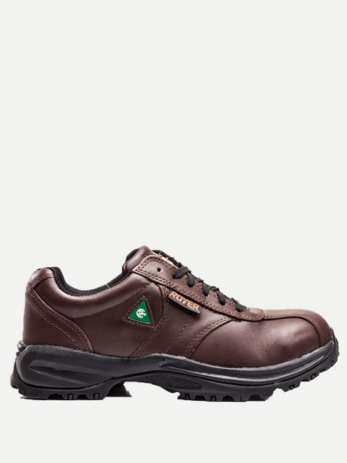 Royer Laced Sport Safety Shoe Brown