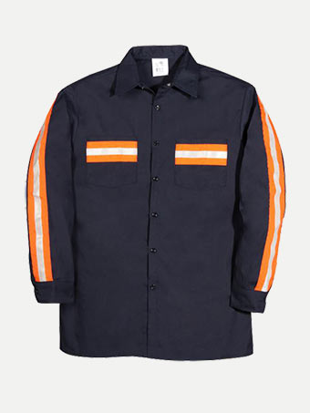 Big Bill Long Sleeve Work Shirt With Reflective Tape