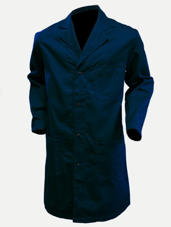 Big Al Navy Shop Coat 100% Cotton
