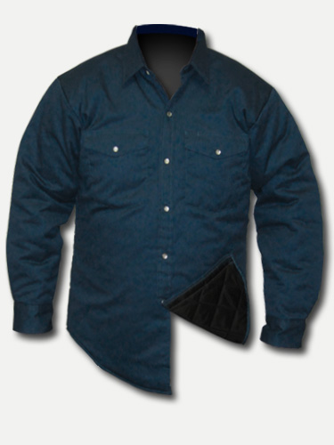 Big Al Quilted Navy Work Shirt