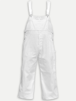 Big Al Poly Cotton White Overall