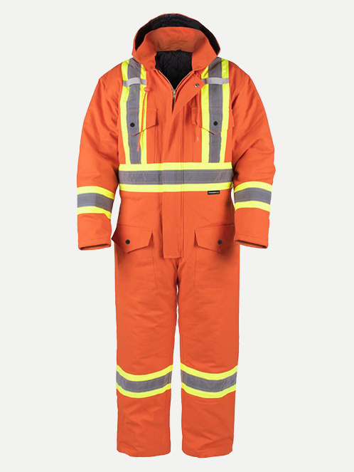 Terra Insulated Duck Hi Vis Coverall