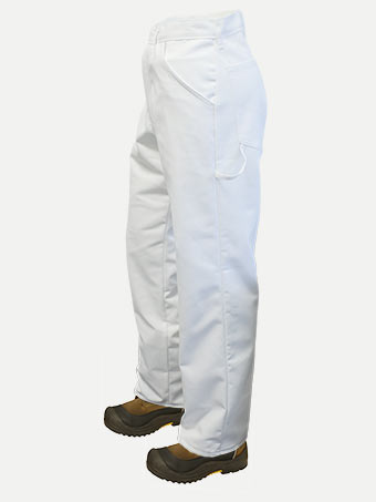 Big Al White Painter's Pants  65% poly 35% Cotton 32""
