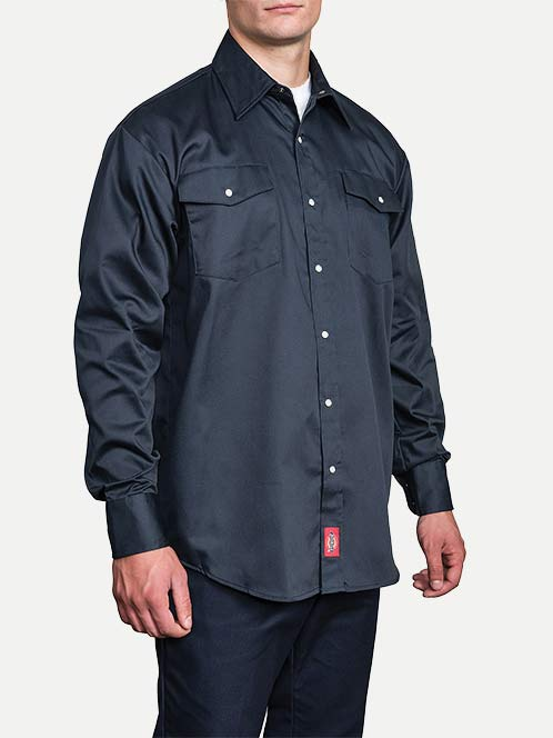 Dickies Original Fit Long Sleeve Snap Front Work Shirt