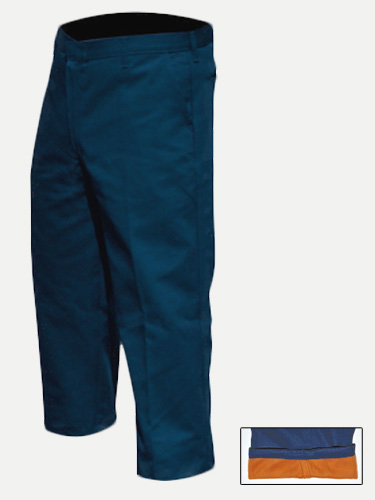 Big Al Navy Lined Fleece Work Pants Poly Coton