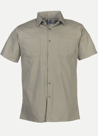 Big Bill Short Sleeve Lightweight Poplin Work Shirt