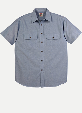 "Big Bill Chemise ""Chambray"" Manches Courtes"