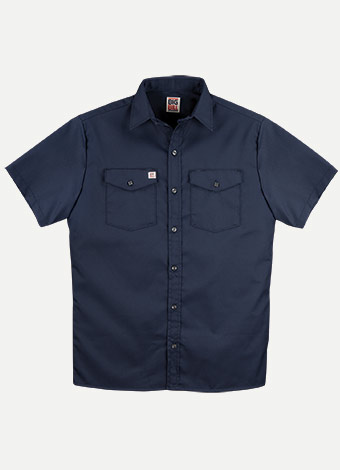 Big Bill Button Front Closure Short Sleeves Work Shirt