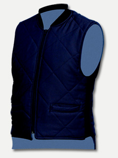 Big Al Navy 65% Poly 35% Cotton Vest