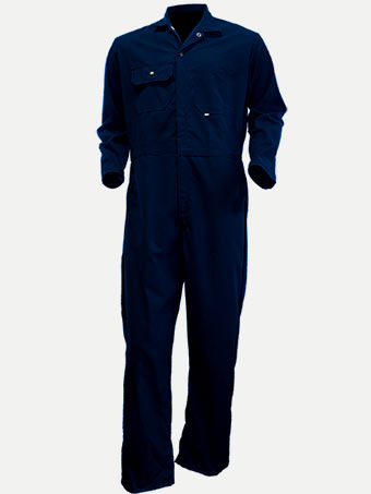 Big Al Navy Poly Cotton Coverall Light Weight