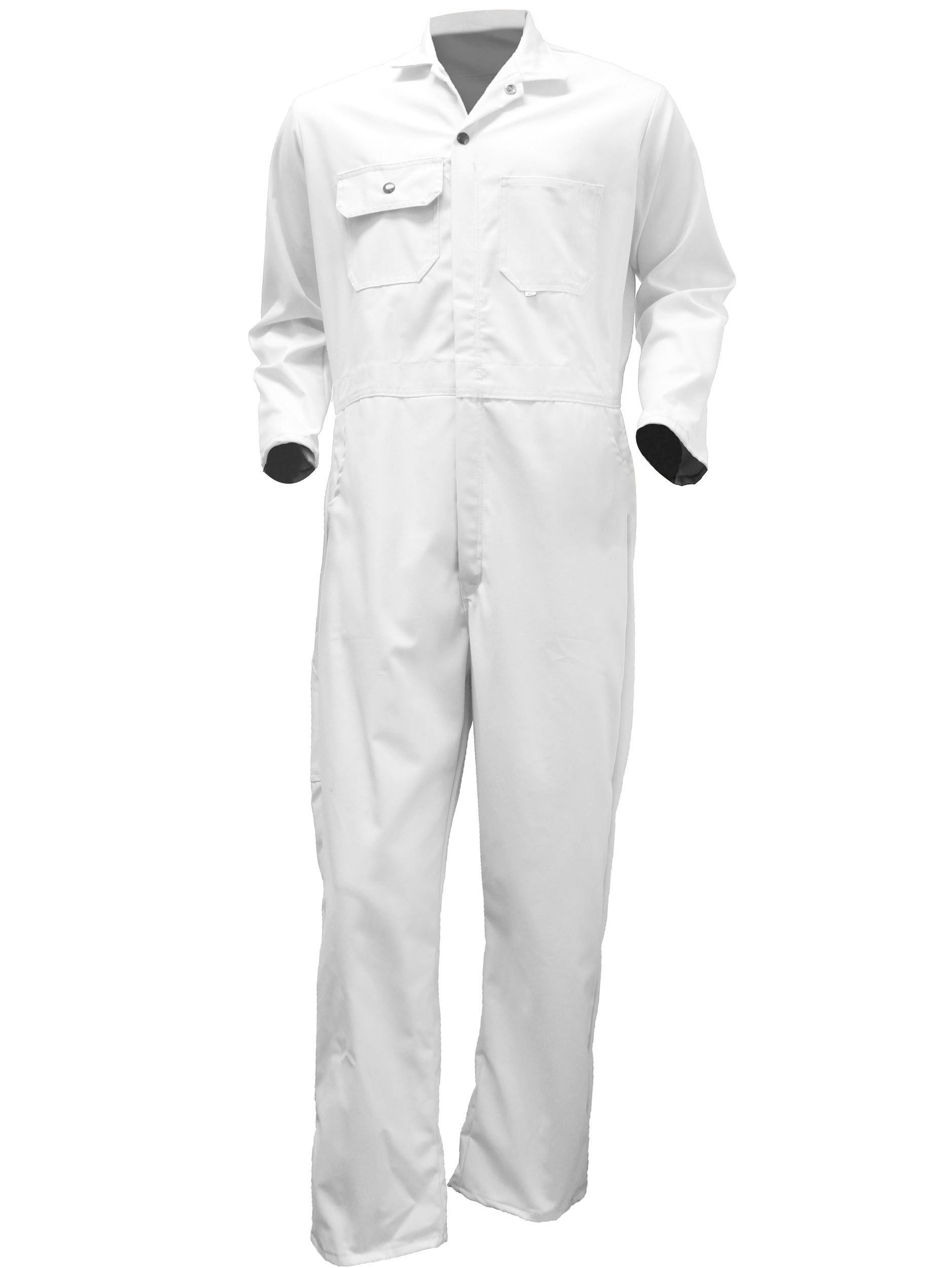 Big Al White Poly Cotton Coverall