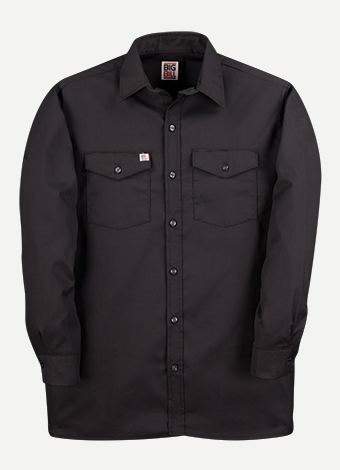 Big Bill Long Sleeve Button Front Closure Work Shirt