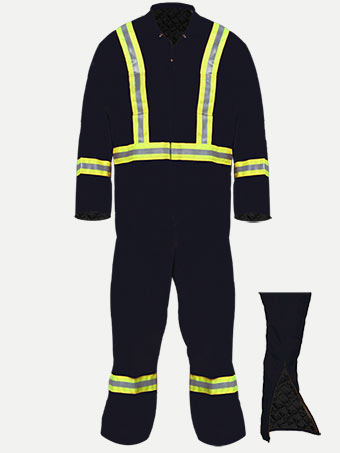 Big Al Hiviz Reflective Lined Coverall