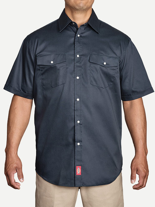 Dickies Original Fit Short Sleeve Snap Front Work Shirt