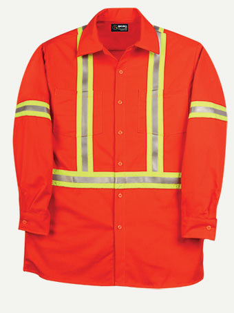 Big Bill 7 oz Westex Ultra Soft Hiviz Industrial Work Shirt