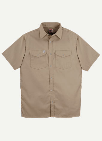 Big Bill Snap Front Closure Short Sleeves Work Shirt