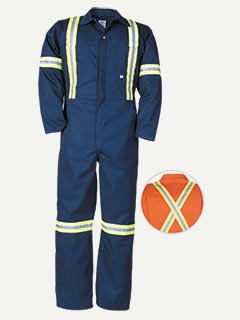 Big Bill Twill Workwear Deluxe Coverall With Reflective Tape