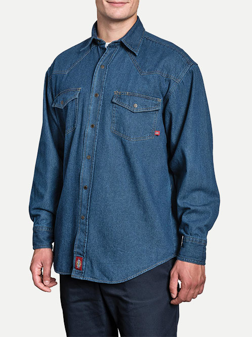 Dickies Relaxed Fit Long Sleeve Denim Shirt