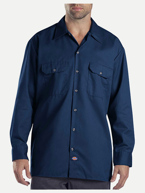 Dickies Original Fit Long Sleeve Button Front Work Shirt