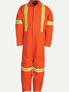 Big Bill Mid-Weight Insulated Twill Work Coverall With Reflectiv