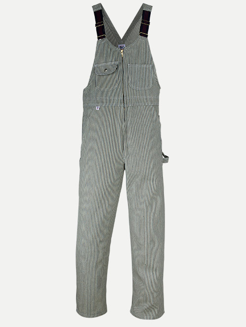 Big Bill Zip-Front Closure Hickory Stripe Bib Overall