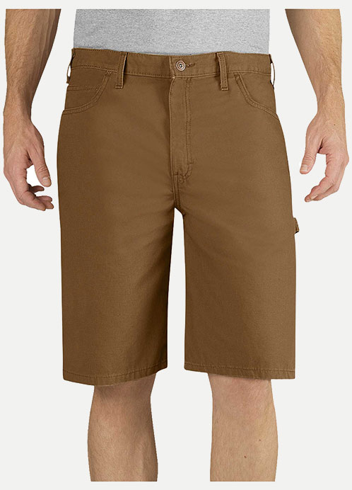 "Dickies Relaxed Fit 11"" Washed Duck Carpenter Short"