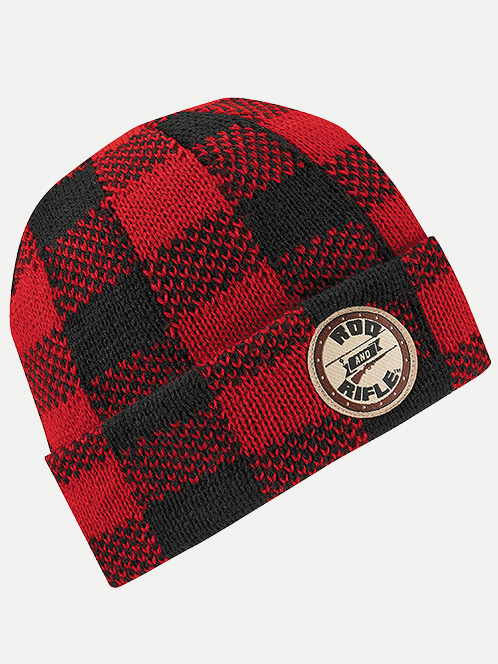 Wigwam Rod & Rifle Red Plaid Beanie