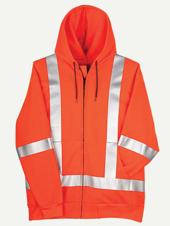 Big Bill 14 oz Flamex® FR Zip Up Hooded Hiviz Sweatshirt