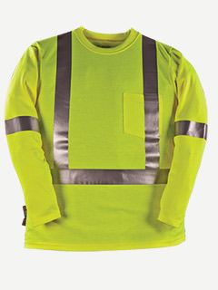 Big Bill 8.75 Oz. Polartec Power Dry FR Hivis long sleeve t shir
