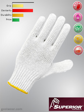 Superior 7 Gauge polycotton work gloves (SBQ) (1 douzain)