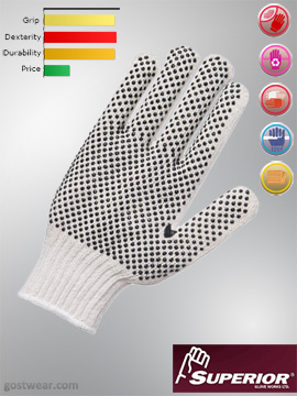 Superior Polycotton Sure-grip Work Gloves (1 dozen)