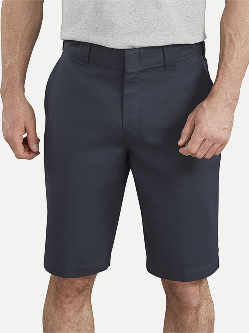 "Dickies 11"" Active Waist Flat Front Shorts"