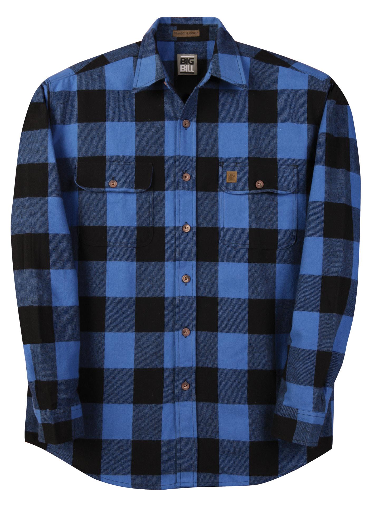 Big bill 9 oz brawny flannel heavy weight shirt 121 for 9 oz flannel shirt