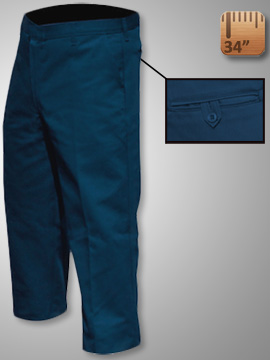 Big Al Navy Work Pants 65% poly 35% Coton