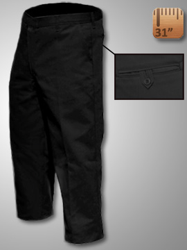 Big Al Black Work Pants 65% poly 35% Coton