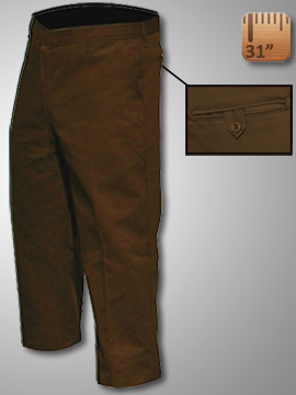 Big Al Brown Work Pants 65% poly 35% Coton