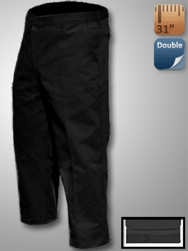 Big Al Black Lined Work Pants 65% poly 35% Coton