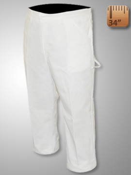 Big Al White Pants 65% poly 35% Coton