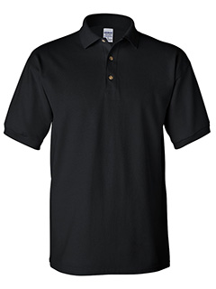 Gildan Black Cotton adult pique sport shirt
