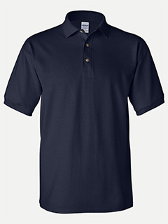 Gildan Navy Cotton adult pique sport shirt