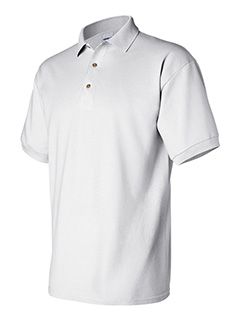 Gildan White Cotton adult pique sport shirt