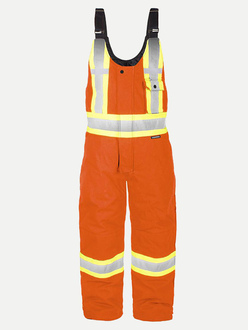 Terra High Visibility Canvas Insulated Overalls
